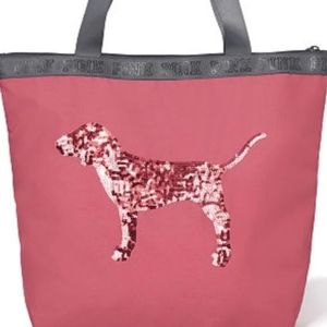 💖 New PINK VS Bling Victoria's Dog tote bag